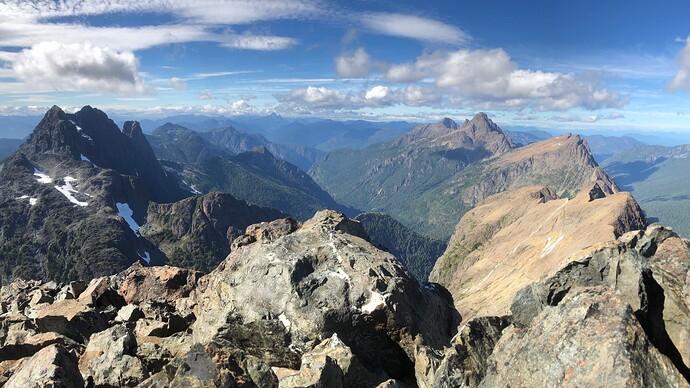 Summit view - at least 4 IQ peaks here