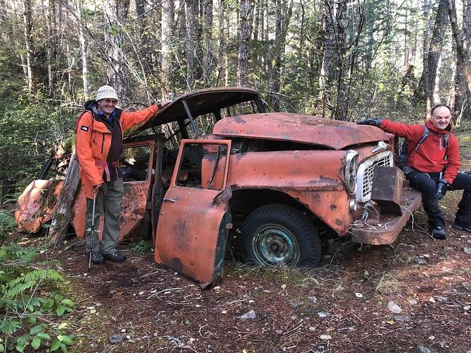 Nature recaims - a bit less truck each year