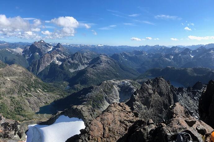Summit view - Golden Hinde etc